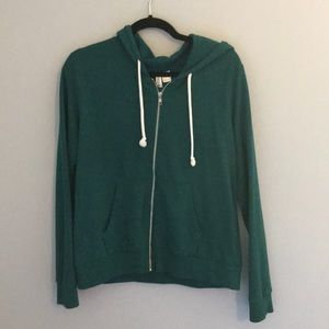 Green zip up hoodie from H&M